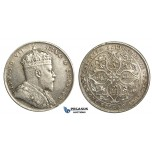 R357, Straits Settlements, Edward VII, Dollar 1908,  Silver, Some Cleaning and Marks