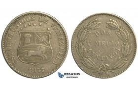 R364, Venezuela, 2 1/2 Centavos 1877
