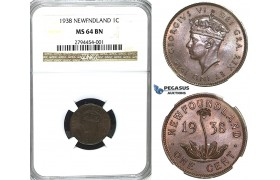 R405, Canada, Newfoundland, George VI, Cent 1938, NGC MS64BN (Pop 1/1)