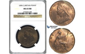 R410, Great Britain, Victoria, Penny 1898, NGC MS65RB (Pop 1/4, No finer)