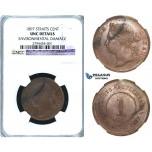R416, Straits Settlements, Victoria, Cent 1897, NGC UNC