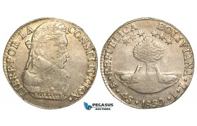 R447, Bolivia, 4 Soles 1830 JL, Potosi, Silver, Nice details!