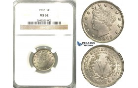 R518, United States, Liberty Nickel (5C.) 1902, NGC MS62