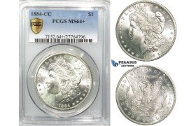 R539, United States, Morgan Dollar 1884-CC, Carson City, Silver, PCGS MS64+