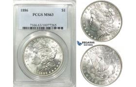 R540, United States, Morgan Dollar 1886, Silver, PCGS MS63