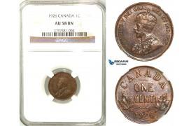 R559, Canada, George V, 1 Cent 1926, NGC AU58BN