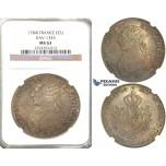 R56, France, Louis XVI, Ecu 1784-I, Limoges, Silver, NGC MS63