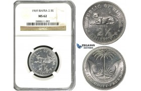 R595, Biafra, 2 1/2 Shillings 1969, NGC MS62