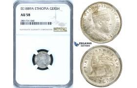 R659, Ethiopia, Menelik II, Gersh EE1895-A, Paris, Silver, NGC AU58