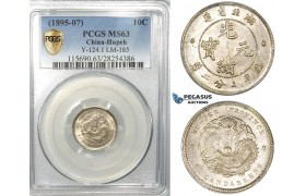 R674, China, Hupeh, 10 Cents ND (1895-07) Silver, L&M 185, PCGS MS63