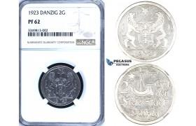 R701, Poland, Danzig, 2 Gulden 1923, Silver, NGC PF62
