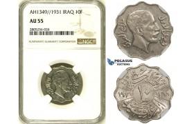R729, Iraq, Faisal I, 10 Fils AH1349/1931, NGC AU55