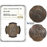 R779, France, Napoleon III, 10 Centimes 1855-A,