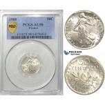 S05, France, Third Republic, 50 Centimes 1908, Paris, Silver, PCGS AU58