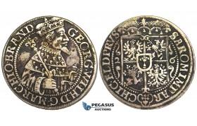 S19, Germany, Brandenburg-Prussia, Georg Wilhelm, Ort 1626, Königsberg, Silver, Dark toning (R4, Poland)