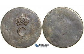 S59, French Colonies (West Indies) Louis XVI, Stampee ND (1779) Billon, Nice and Rare!