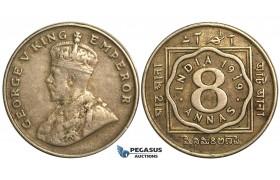 S68, British India, George V, 8 Annas 1919