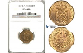S80, Danish West Indies, Frederik VII, 1 Cent 1859, NGC MS65RB (Prooflike fields) Pop 1/3, No finer!