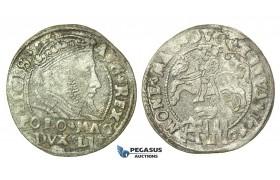 T121, Poland (for Lithuania) Sigismund II Augustus, Groschen 1546, Vilnius, Silver (0.72g) Very Rare!