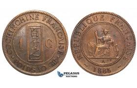 U33, French Indo-China, 1 Centime 1885-A, Paris, VF