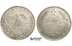 U35, Ottoman Empire, Egypt, Abdülhamid II, 10 Qirsh AH1293/29, Misr, Silver, Nice!