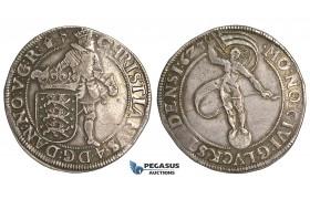 U95, Denmark (Glückstadt) Christian IV, Speciedaler 1623, Glückstadt, Silver (28.87g) Hede 156, Good VF with cabinet toning! Rare!