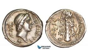 V04X, Roman Republic, Q. Sicinius & C. Coponius (49 BC) AR Denarius (3.82g) Club