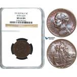 Y35, Italy, Vit. Emanuele III, 5 Centesimi 1913-R, Rome, NGC MS64BN (with Dot)