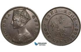 Y51, Hong Kong, Victoria, 1 Cent 1866, Nice!