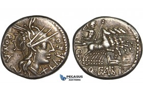 Y68, Roman Republic, Q. Fabius Labeo (124 BC) AR Denarius (3.82g) Rome, Quadriga, Fine Patina!