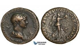 Y73, Roman Empire, Trajan (98-117 AD) Æ As (11.47g) Rome, Victory