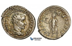 Y76, Roman Empire, Philip I. The Arab (244-249 AD) AR Antoninianus, Antioch, Felicitatis