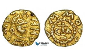 Z20, Merovingian, Mummolus (ap. 620-640 AD) AV Tremissis (1.25g) Cabillonum ( Chalon-sur-Saône ) Rare!