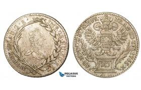 Z39, Transylvania, Maria Theresia, 10 Kreuzer 1765, Karlsburg, Silver (3.82g) Good VF