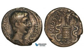 Z59, Roman Empire, Augustus (27 BC - 14 AD) AR Quinarius 29 (1.68g) Ephesus, Victory, VF