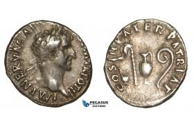 Z85, Roman Empire, Nerva (96-98 AD) AR Denarius (3.22g) Rome (97 AD) Good VF