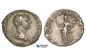 Z89, Roman Empire, Trajan (98-117 AD) AR Denarius (2.97g) Rome (112-114 AD) Felicitas, Good VF