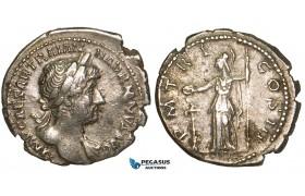 Z90, Roman Empire, Hadrian (117-138 AD) AR Denarius (3.27g) Rome (119-122 AD) Minerva, aVF