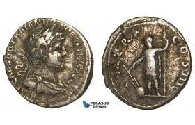 Z91, Roman Empire, Hadrian (117-138 AD) AR Denarius (2.79g) Rome (124 AD) Emperor, F-VF
