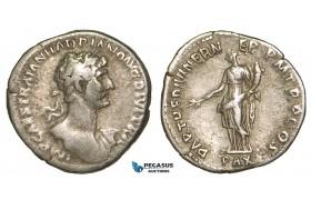Z94, Roman Empire, Hadrian (117-138 AD) AR Denarius (2.94g) Rome (117 AD) Pax, VF