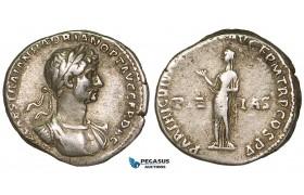Z95, Roman Empire, Hadrian (117-138 AD) AR Denarius (3.34g) Rome (117 AD) Pietas, VF