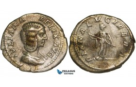 ZA09, Roman Empire, Julia Domna, AR Denarius (3.24g) Rome (211-217 AD) Diana, VF