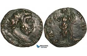 ZA10, Roman Empire, Carausius, Romano-British Emperor (286-293 AD) BL Antoninianus (2.01g) Barbaric imitation, VF