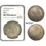 ZB93, France, Louis XVI, Ecu 1787-R, Orléans, Silver, NGC MS62, Pop 1/0, Finest!