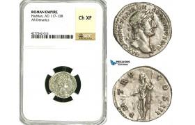 ZC50, Roman Empire, Hadrian (117-138 AD), AR Denarius (3.20g) Rome, 119-122 AD, Pax, NGC Ch XF