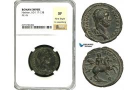 ZC54, Roman Empire, Hadrian (117-138 AD) Æ As (8.84g) Rome, 132-134 AD, Horse, NGC XF, Fine Style