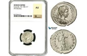ZC81, Roman Empire, Caracalla (197-217 AD), AR Denarius (3.35g) Rome, 199-200 AD, NGC AU