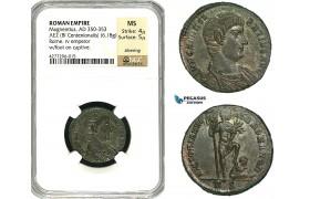 ZD47, Roman Empire, Magnentius (350-353 AD) Æ2 BL Centenionalis (6.18g) Rome, 350 AD, Captive, NGC MS