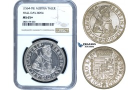 ZE38, Austria, Ferdinand, Archduke, Taler ND (1564-95) Hall, Silver, NGC MS65+ (Rare in such grade!)