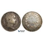 ZE45, France, Napoleon I, 5 Francs 1811-B, Rouen, Silver, Polished VF